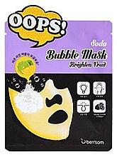 Fragrances, Perfumes, Cosmetics Brightening Facial Bubble Sheet Mask - Berrisom Soda Bubble Mask Brighten Fruit