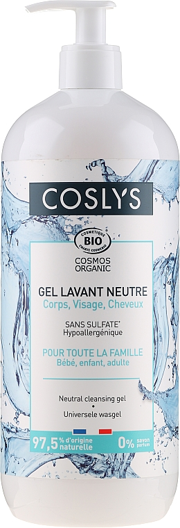 Universal Face, Hand, Body & Hair Gel for Babies, Kids & Adult) - Coslys Universal Cleansing Gel