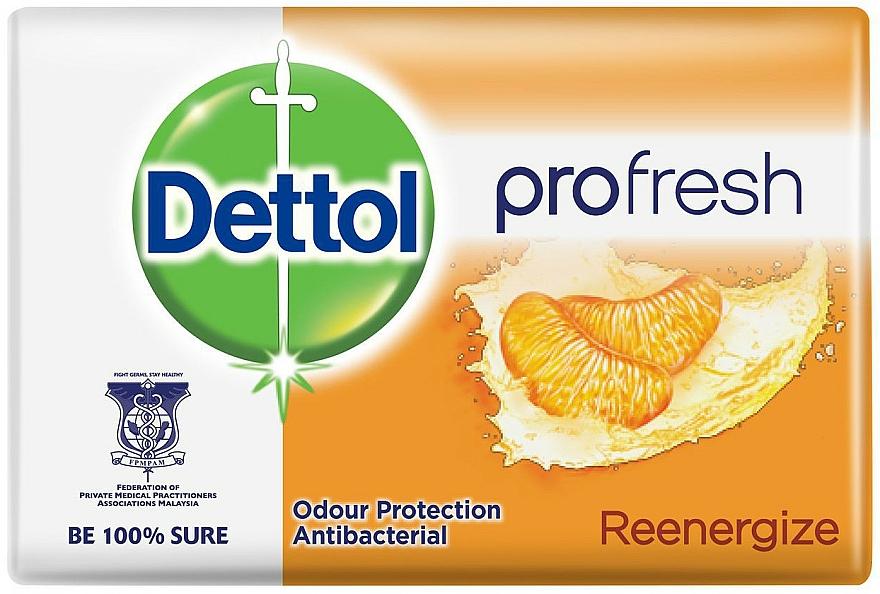 Antibacterial Tangerine Soap - Dettol Anti-bacterial Re-Energise Bar Soap
