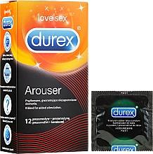 Fragrances, Perfumes, Cosmetics Ribbed Condoms, 12 pcs - Durex Arouser
