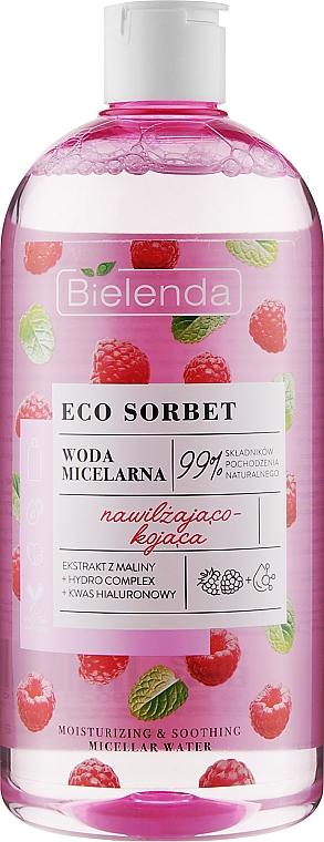 Raspberry Micellar Water - Bielenda Eco Sorbet Moisturizing & Soothing Micellar Water