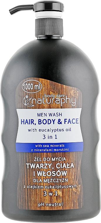 Men Shower Gel-Shampoo with Eucalyptus Oil - Bluxcosmetics Naturaphy Men