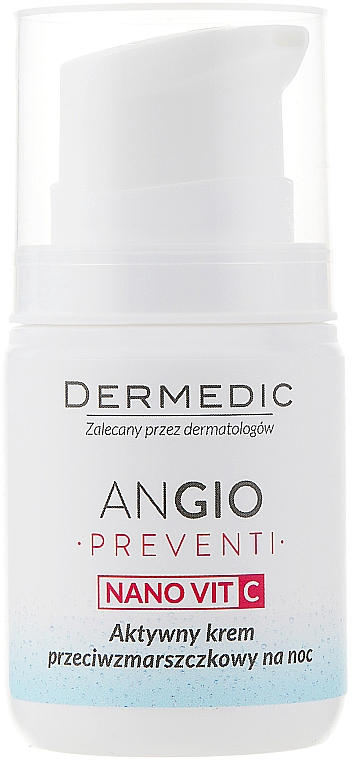 Active Anti-Wrinkle Night Cream for Skin Prone to Redness - Dermedic Angio Preventi Active Anti-Wrinkle Night — photo N2