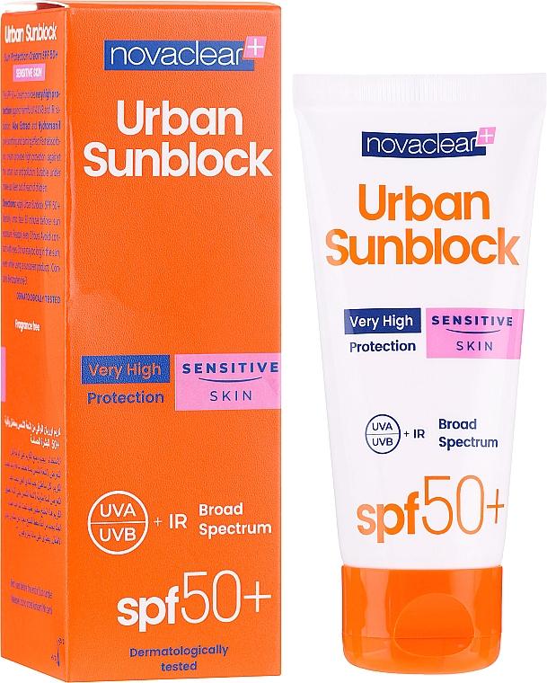 Sun Protective Cream for Sensitive Face Skin - Novaclear Urban Sunblock Protective Cream Sensitive Skin SPF50