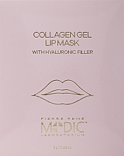 Fragrances, Perfumes, Cosmetics Collagen Lip Mask - Pierre Rene Medic Collagen Gel Lip Mask