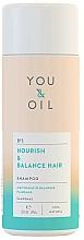 Fragrances, Perfumes, Cosmetics Hair Shampoo 'Nourishment and Shine' - You&Oil Nourish & Balance Hair Shampoo