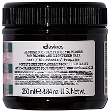 Fragrances, Perfumes, Cosmetics Natural & Colored Hair Conditioner (teal) - Davines Alchemic Conditioner Teal
