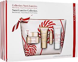 Fragrances, Perfumes, Cosmetics Set - Clarins Nutri-Lumiere Christmas Set (f/cr/50ml+f/cr/15ml+f/lot/10ml+h/cr/30ml+bag)
