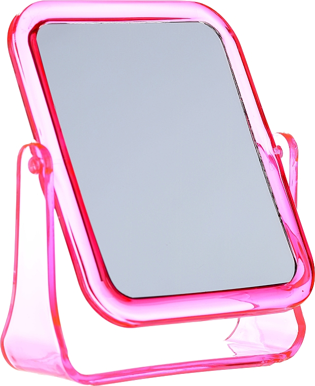 Square Cosmetic Mirror, 5282, pink - Top Choice