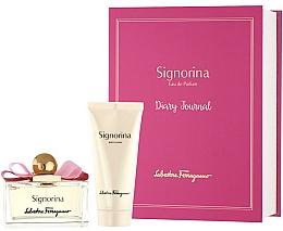 Fragrances, Perfumes, Cosmetics Salvatore Ferragamo Signorina - Set (edp 100ml + b/lot 100ml)