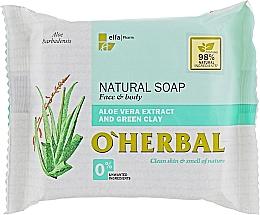 Fragrances, Perfumes, Cosmetics Natural Aloe Vera & Green Clay Soap - O'Herbal Natural Soap