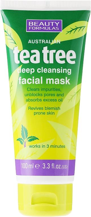 "Deep Cleansing Facial Mask ""Tea Tree"" - Beauty Formulas Tea Tree Deep Cleansing Facial Mask"