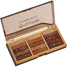 Fragrances, Perfumes, Cosmetics Face Shimmer Palette - Makeup Revolution Shimmer Brick Palette