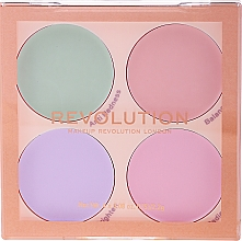Fragrances, Perfumes, Cosmetics Matte Concealer Palette - Makeup Revolution Matte Base Corrector Kit