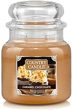 Fragrances, Perfumes, Cosmetics Scented Candle in Jar - Country Candle Caramel Chocolate