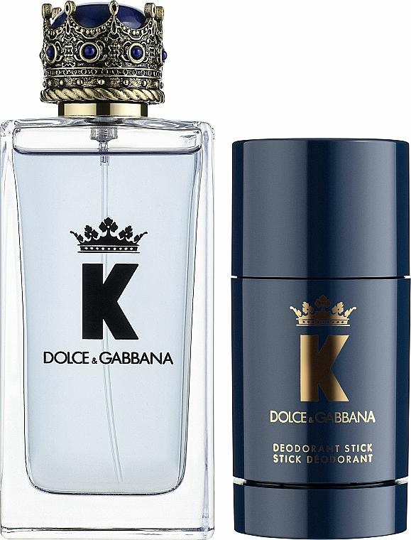 Dolce&Gabbana K by Dolce&Gabbana - Set (edt/100ml + deo/stick/75ml)  — photo N1