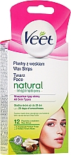 Fragrances, Perfumes, Cosmetics Wax Strips for Face with Shea Butter - Veet Natural Inspirations Wax Strips