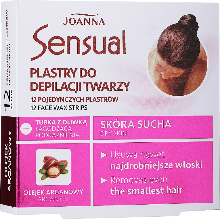 Depilatory Wax Face Strips with Argan Oil - Joanna Sensual Depilatory Face Strips