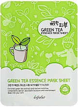 Fragrances, Perfumes, Cosmetics Green Tea Sheet Mask - Esfolio Pure Skin Green Tea Essence Sheet Mask