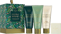Fragrances, Perfumes, Cosmetics Set - Scottish Fine Soaps Festive Wishes Luxurious Gift Set (sh/gel/75ml + b/cr/75ml + hand/nailcr/75ml + soap/40g)