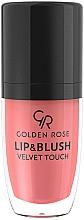 Fragrances, Perfumes, Cosmetics Lip & Blush Stick - Golden Rose Lip & Blush Velvet Touch
