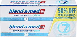 """Fragrances, Perfumes, Cosmetics Toothpaste Set """"Complex 7"""" - Blend-a-med Complete 7 Extra Fresh"""