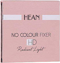 Fragrances, Perfumes, Cosmetics Face Powder - Hean No Colour Fixer HD Compact Powder