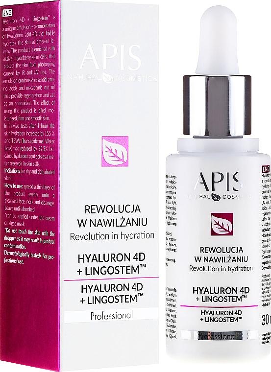 Moisturizing Face Emulsion - APIS Professional 4D Hyaluron + Lingostem