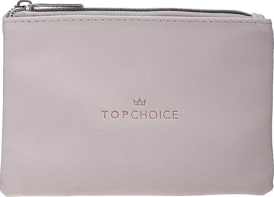 "Makeup Bag ""Leather"", 96969, creamy - Top Choice — photo N1"