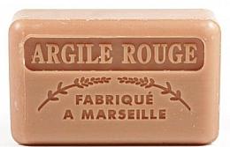 """Fragrances, Perfumes, Cosmetics Marseilles Soap """"Red Clay"""" - Foufour Savonnette Marseillaise Argile Rouge"""