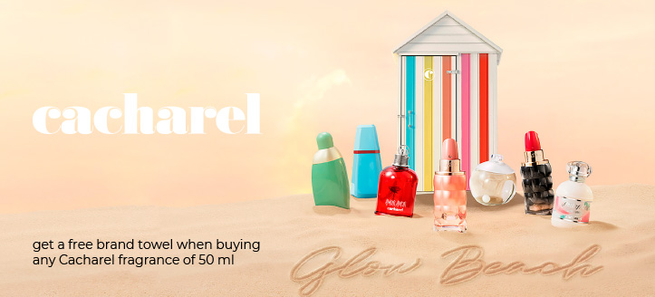 Buy any Cacharel fragrance of 50 ml and get a free brand towel