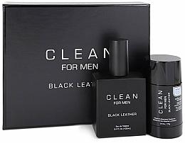 Fragrances, Perfumes, Cosmetics Set - Clean Black Leather Men (edt/100ml + deo/75ml)