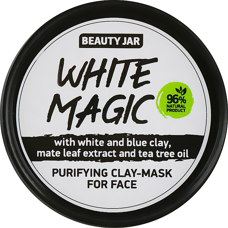 Face Mask with Mate Leaf Extract - Beauty Jar White Magic