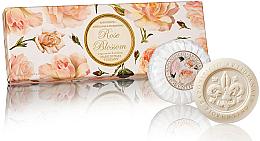 """Fragrances, Perfumes, Cosmetics Soap Set """"Rose"""" - Saponificio Artigianale Fiorentino Rose Blossom Soap"""