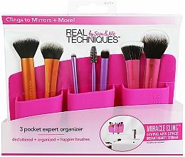 "Fragrances, Perfumes, Cosmetics Makeup Brushes Organizer ""Pink"" - Real Techniques 3 Pocket Expert Organizer Pink"