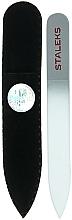 Fragrances, Perfumes, Cosmetics Crystal Nail File, F4-12-90, silver - Staleks (9cm)