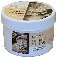 Fragrances, Perfumes, Cosmetics Massage Brown Rice Cream - Lebelage Brown Rice Cleaning Massage Cream