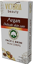Fragrances, Perfumes, Cosmetics Face & Bikini Depilatory Strips with Argan Oil - Victoria Beauty Delicate Skin Care Face & Bikini Waxing Strips Argan