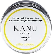 Fragrances, Perfumes, Cosmetics Dry & Damaged Hair Shampoo in Metal Box - Kanu Nature Shampoo Bar Pina Colada for Dry & Damaged Hair