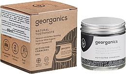 Fragrances, Perfumes, Cosmetics Natural Toothpaste - Georganics Activated Charcoal Natural Toothpaste