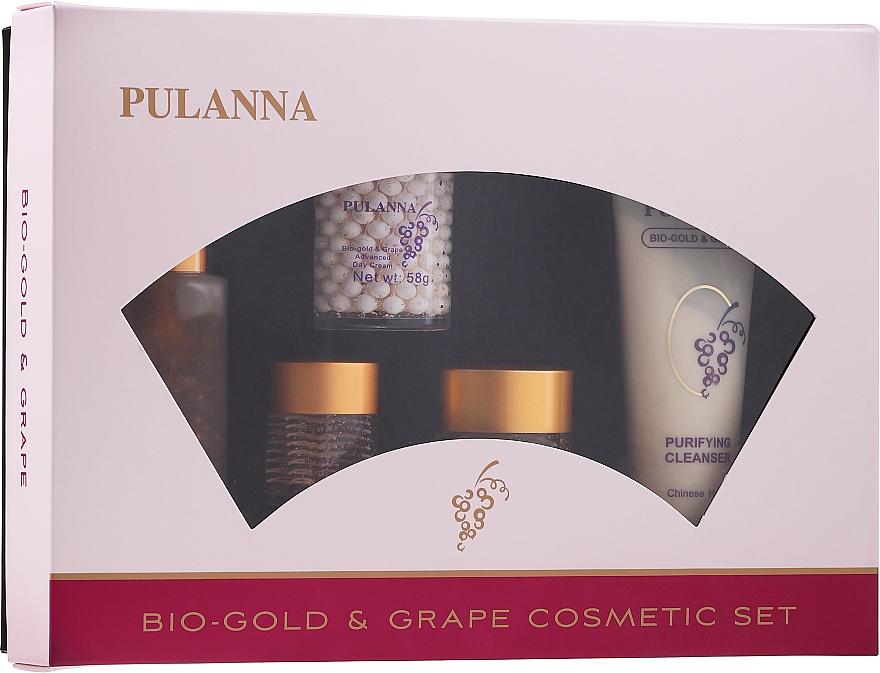 Set - Pulanna Bio-gold & Grape (f/cr/2x58g + eye/cr/21g + f/ton/90g + f/milk/90g)