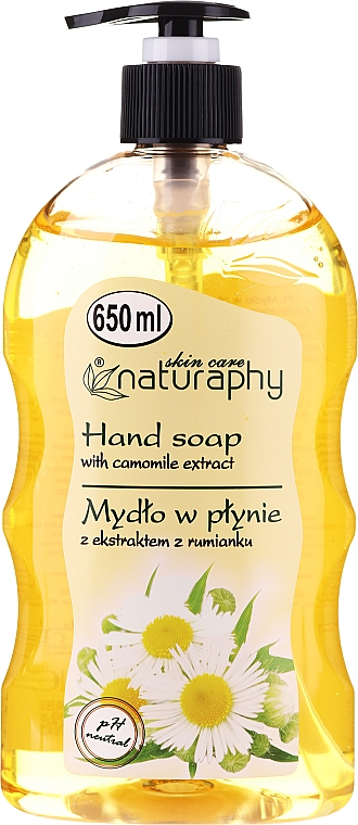 Liquid Soap with Chamomile Extract - Bluxcosmetics Naturaphy Hand Soap