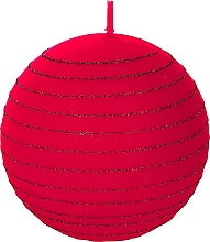 "Fragrances, Perfumes, Cosmetics Decorative Candle ""Red Ball"", 8 cm - Artman Andalo"