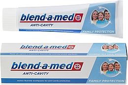 """Fragrances, Perfumes, Cosmetics Family Toothpaste """"Anti-Caries"""" - Blend-a-med Anti-Cavity Family Protect Toothpaste"""