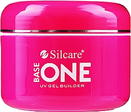 Fragrances, Perfumes, Cosmetics Nail Extension Gel - Silcare Base One Cover Dark