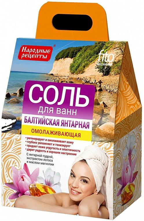 Rejuvenating Bath Salt 'Baltic Amber' - Fito Cosmetic