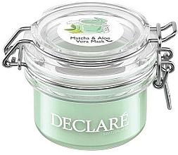 Fragrances, Perfumes, Cosmetics Green Tea and Aloe Vera Anti-Stress Mask - Declare Matcha and Aloe Vera Mask