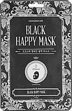 Fragrances, Perfumes, Cosmetics Cleansing Face Mask - Kocostar Black Happy Mask