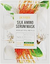 Fragrances, Perfumes, Cosmetics Silk Proteins Face Mask - Petitfee&Koelf Silk Amino Serum Mask