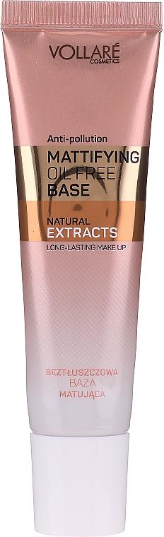 Mattifying Makeup Base - Vollare Mattifying Oil Free Natural Extracts Base Long-Lasting Make Up